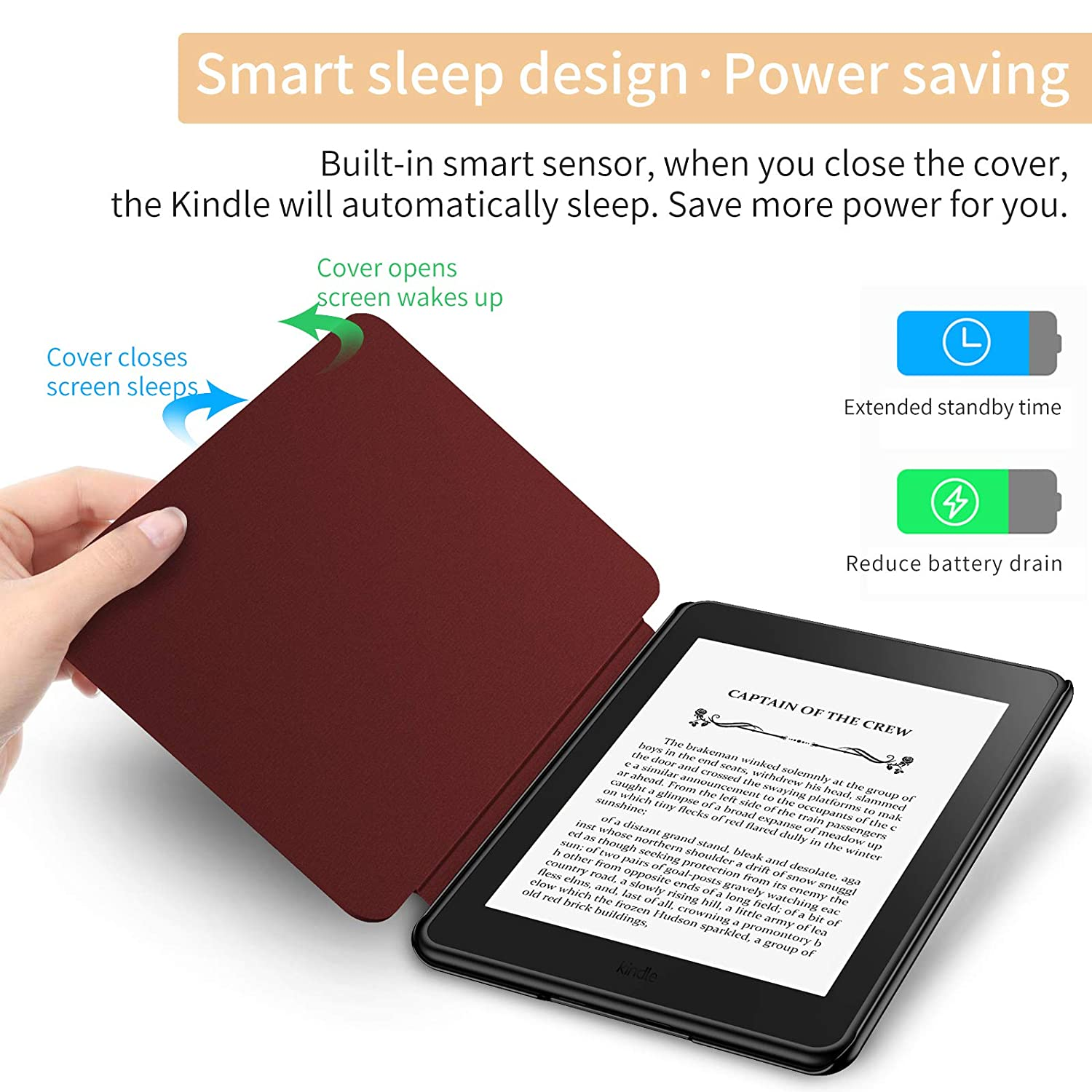 Auto Wake//Sleep Infiland Kindle Paperwhite 2018 Case Compatible with  Kindle Paperwhite 10th Generation 6 inches 2018 Release ,Blossom
