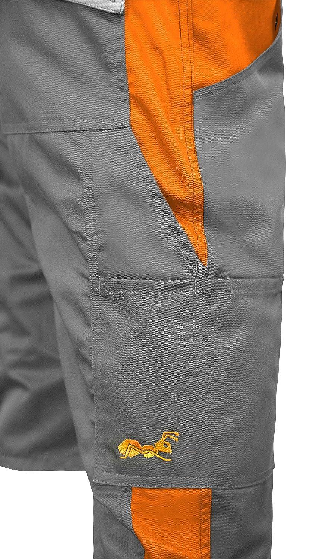 Hecho en la UE Gris Naranja strongAnt/® Pantalones Cortos de Trabajo para el Verano 280 GR