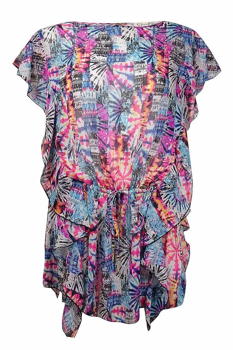 3602119c2c Jessica Simpson Firework Tribal-Print Cover-Up Black Multi S at Amazon  Women's Clothing store: