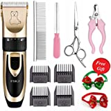 Pet Grooming Clippers,Professional Quiet Rechargeable Cordless Pet Clippers with Comb Guides scissors Nail Trimming Kit for Dogs Cats,other Animals Hair Shave
