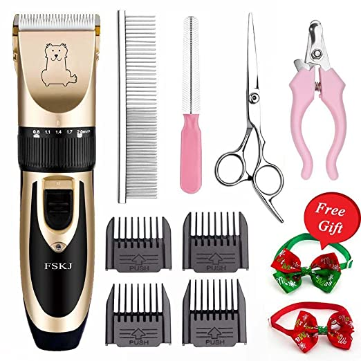 Pet Grooming ClippersProfessional Quiet Rechargeable Cordless Pet Clippers with Comb Guides scissors Nail Trimming Kit for Dogs Catsother Animals Hair Shave