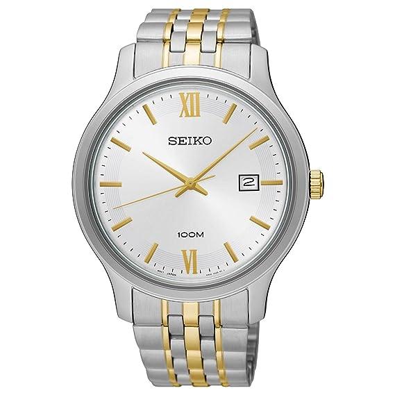 Seiko Hombres Dos Tonos del Valor Especial Reloj de Pulsera de Acero Inoxidable sur223