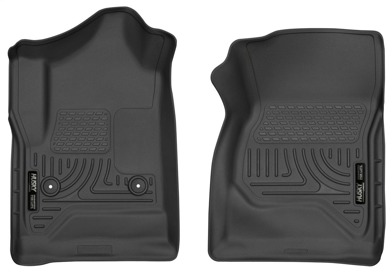 Husky Liners Front Floor Liners Fits 14-18 Silverado/Sierra 1500, 15-19 Silverado/Sierra 2500/3500 Standard Cab