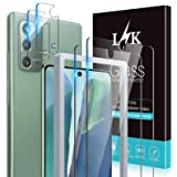 4 Pack LϟK 2 Pack Tempered Glass Screen Protector + 2 Pack Camera Lens Protector Compatible for Samsung Galaxy Note 20, New V