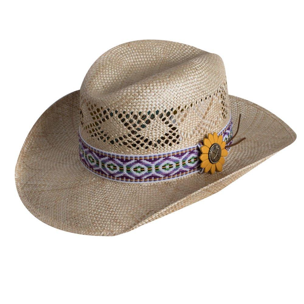 Charlie 1 Horse Purple Heart Breaker Straw Hat