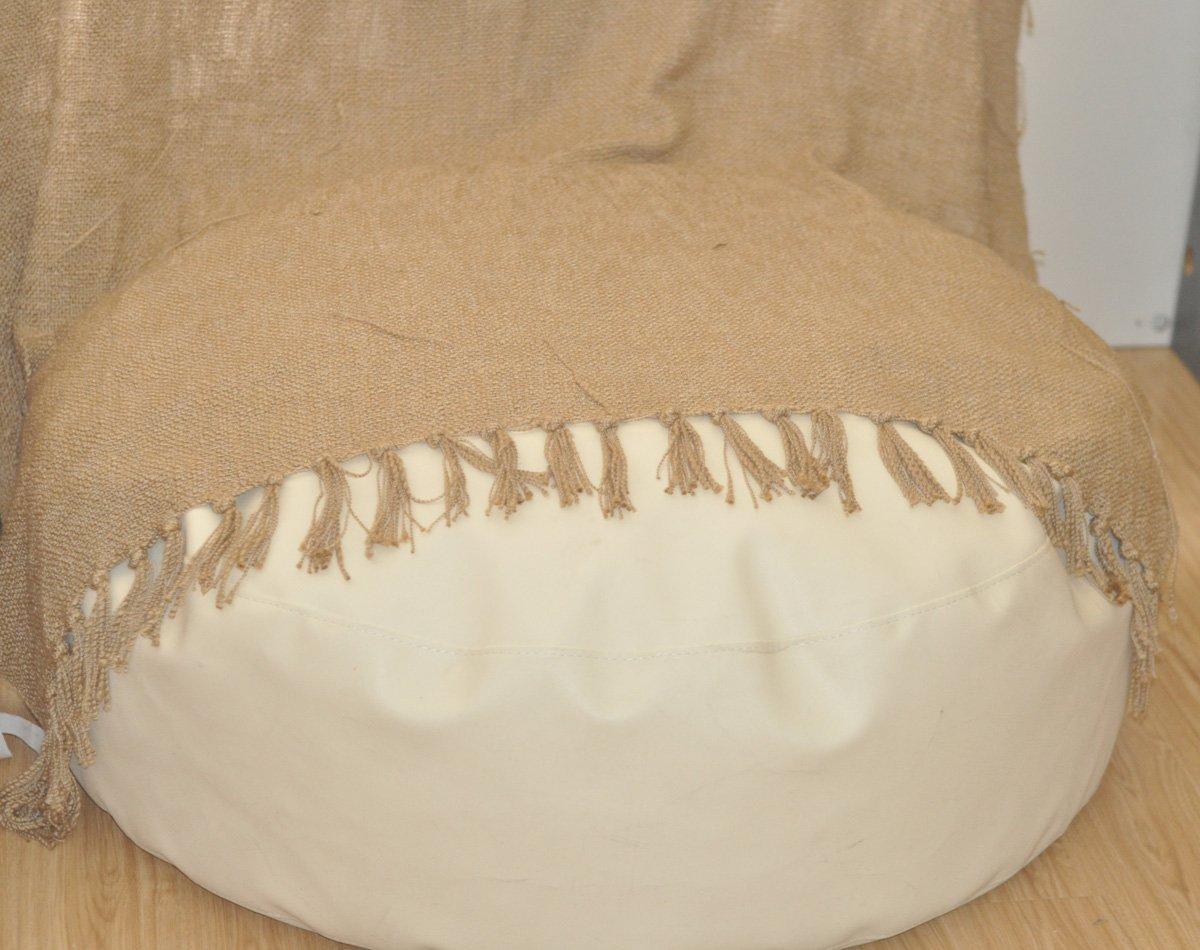 Round White Newborn Posing Bean Bag 80X40 Photo Prop by backdropday (Image #4)