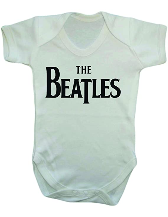 The Beatles Vest Bodysuit Babygrow 0 3 Months White Amazon Co Uk