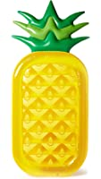 SunnyLife Women's Inflatable Pineapple Raft, Yellow/Green, One Size