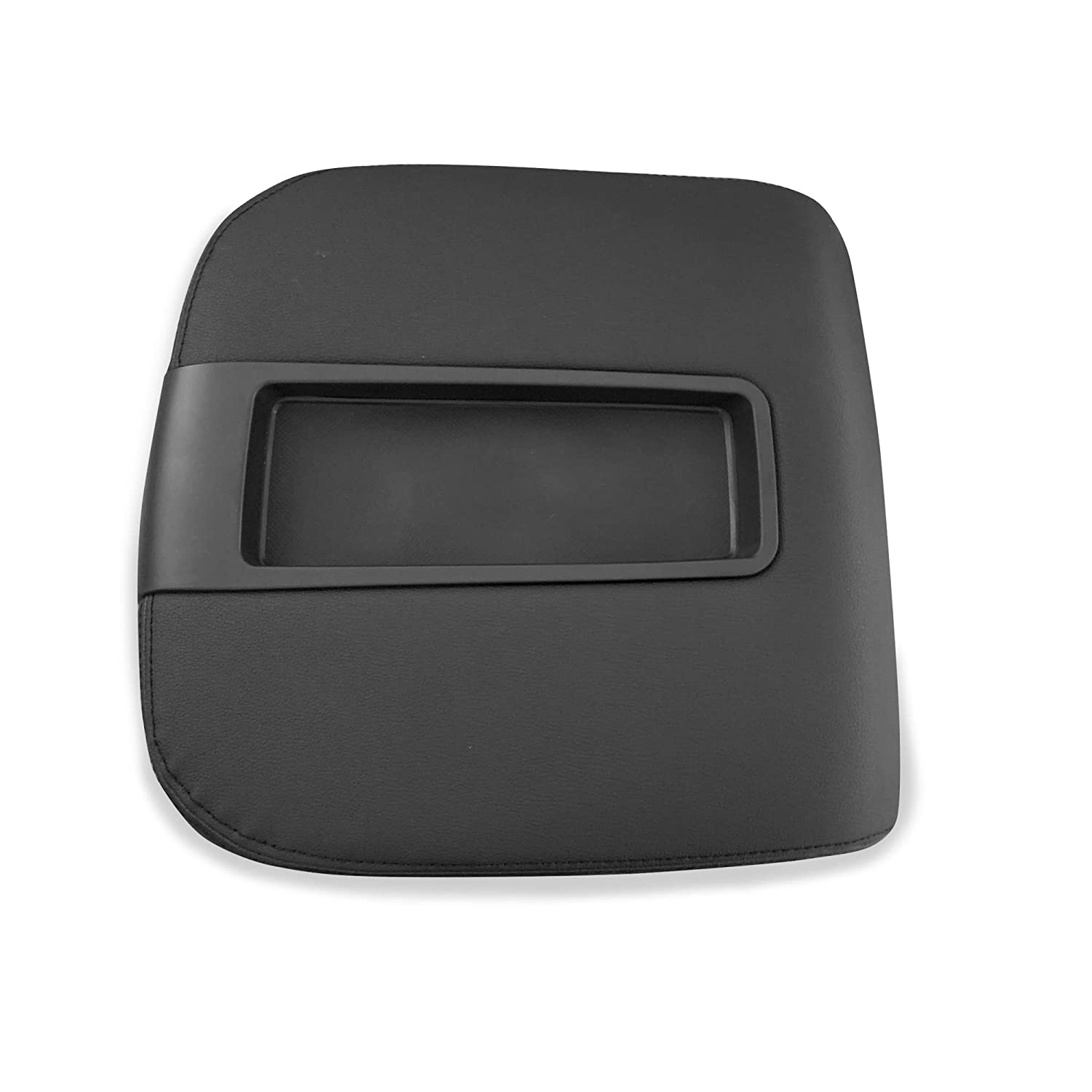RANSOTO Center Console Lid Armrest Cover Kit fit for Chevy Avalanche Silverado Tahoe Suburban GMC Yukon XL Sierra 2007-2014 Replacement 15217111 15941534 Black Color
