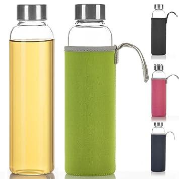 trinkflasche glas mit hülle
