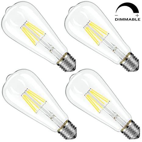 LED Candelabra Bombilla intensidad regulable 60 W equivalente, Blanco (6000 K blanco frío)