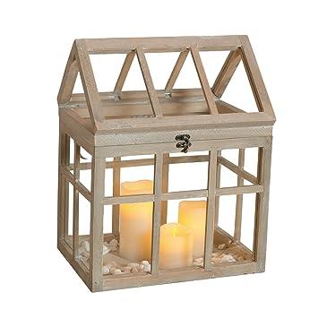gewachshaus holz mini braun ziehkasten laterne windlicht vintage groa gebraucht