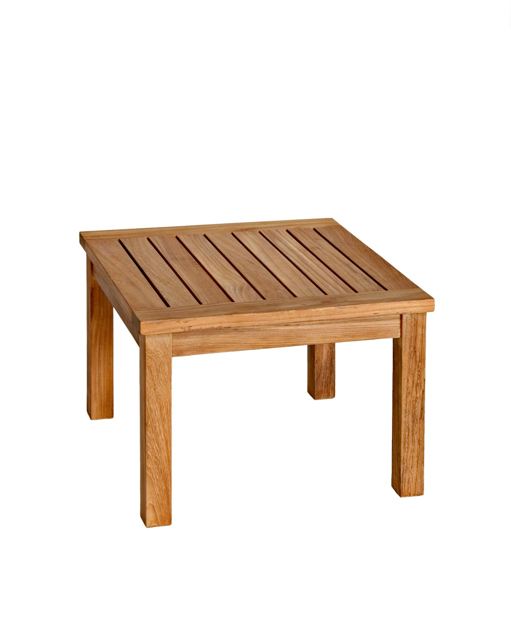 Three Birds Casual Newport 20-Inch Low Square Side Table, Teak