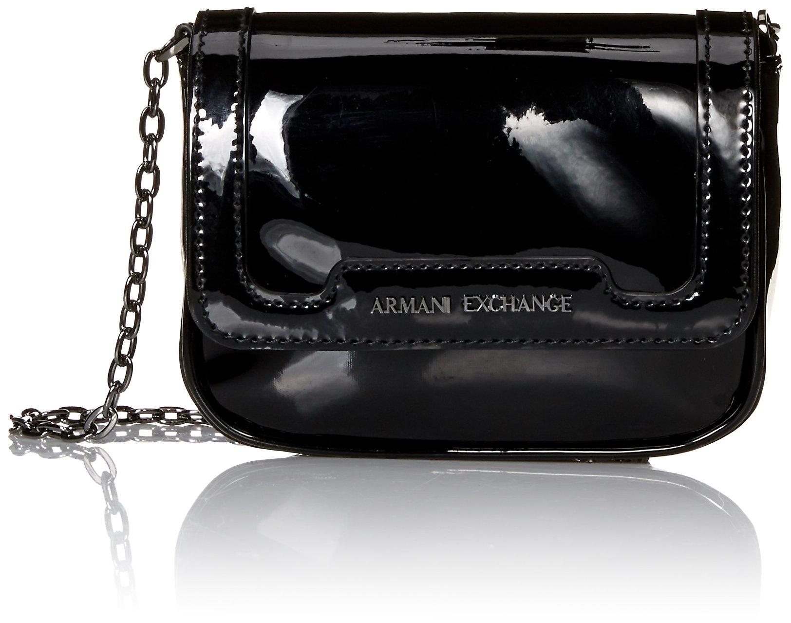 A|X Armani Exchange Small Patent Crossbody Bag