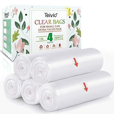 Amazon.com: Teivio - Bolsas de basura de 4 galones, 200 ...