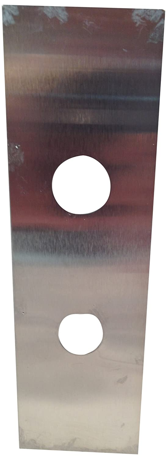 Bronze Sprayed 5 Width x 12 Height For 86 Cut-Out Don-Jo 514-B 22-Gauge Mortise Lock Wrap-Around Plate