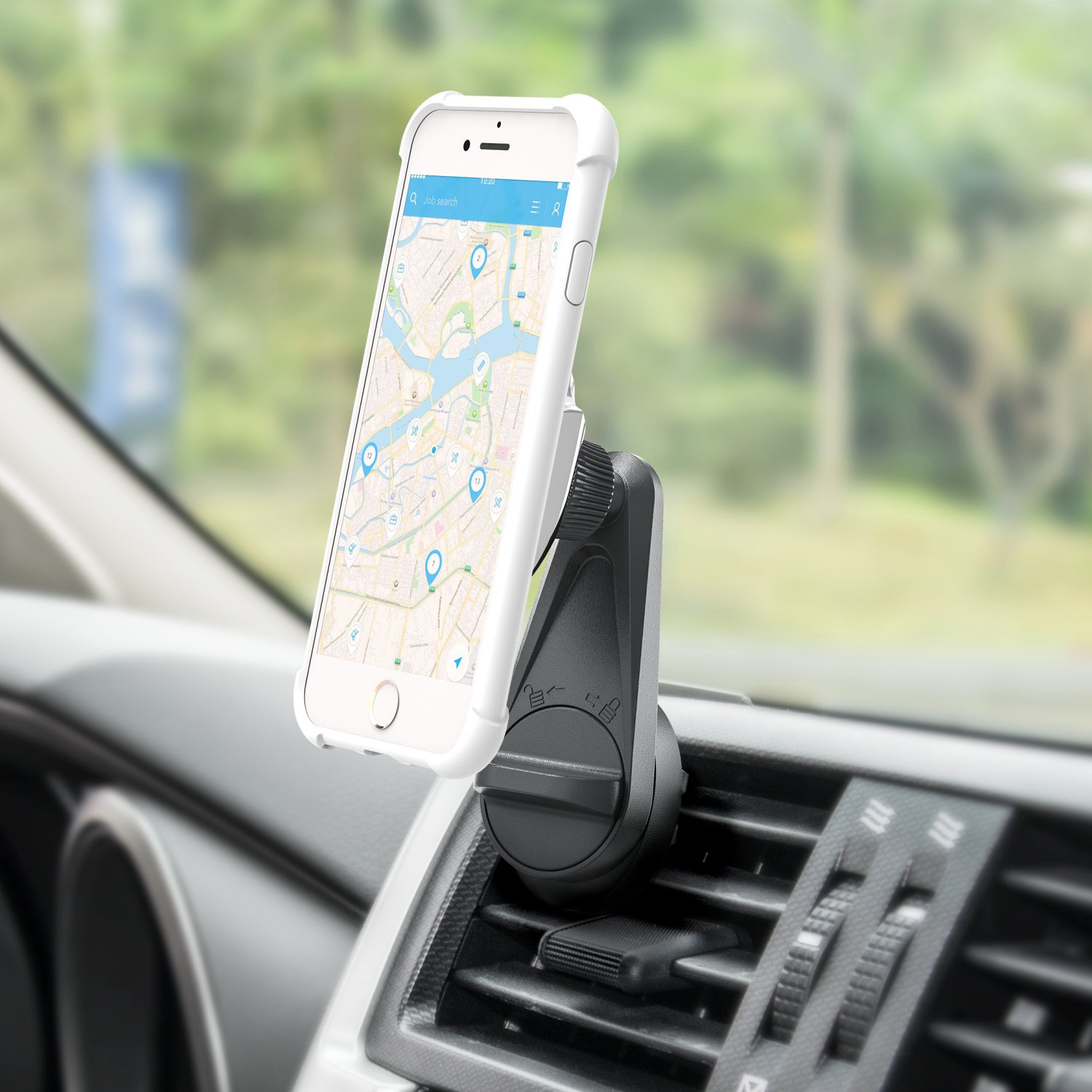 Strong Magnets and Easy Install GPS Devices Black 4333127828 Samsung Universal Phone Cradle for iPhone X 8 7 6 5 F-color Air Vent Car Mount Phone Holder Magnetic Magnetic Phone Car Mount Google Pixel