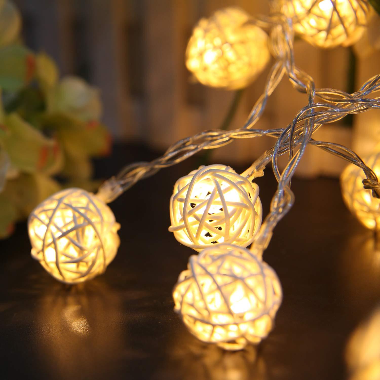 Luci Della Stringa,Vococal String Luce 5M 40LED Luci Della Stringa USB String Luce per Home Natale Party Hotel Decorazione Pub Puntelli Bianco Caldo