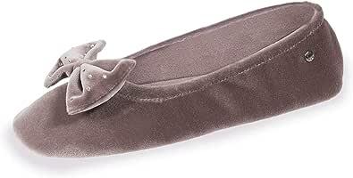 Zapatillas Mujer Terciopelo Gran Nudo Isotoner