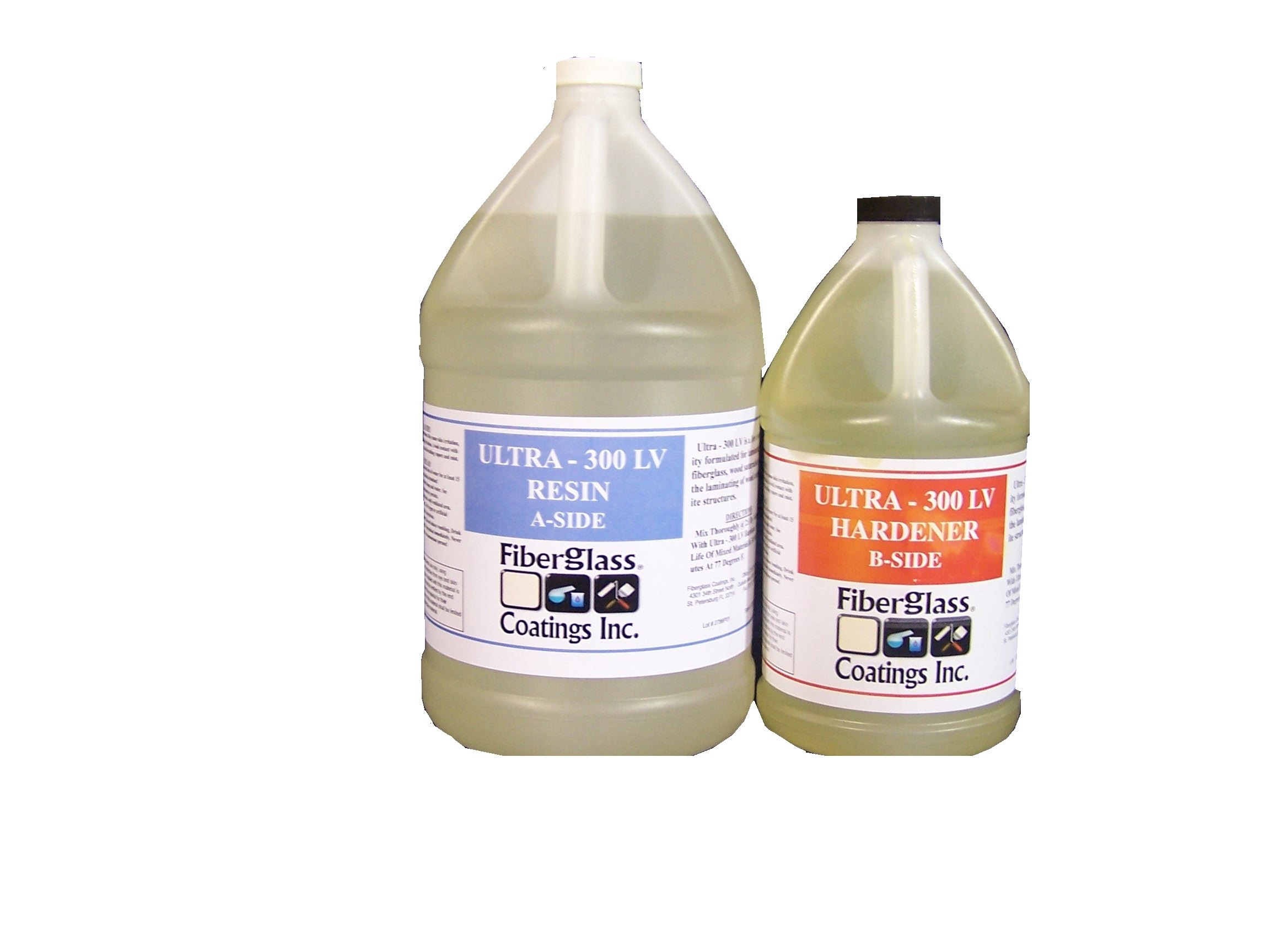 Epoxy Laminating Resin Kit, 2:1, 1-1/2 Gallon, High Strength, Easy Wet-Out, Parts A & B Included