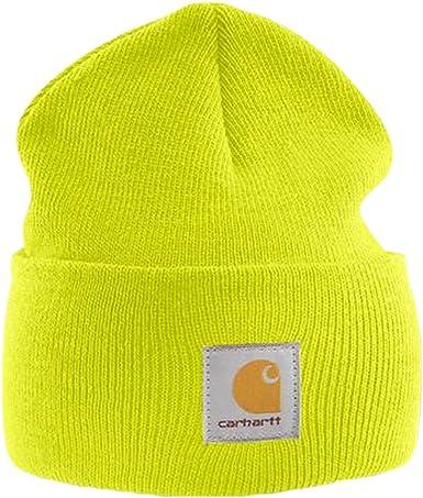 Carhartt Gorra Acrílico - Amarillo Sombrero Gorra de Esquiar ...
