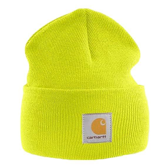 Carhartt - Acrylic Watch Cap - Giallo uomini inverno Beanie sci cappello  CHA18BLM-Universal  Amazon.it  Abbigliamento 613f1737af83