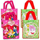 Disney Christmas Gift Bags -- Set of 4 Reusable Tote Bags Featuring Disney Princess and Disney Fairies