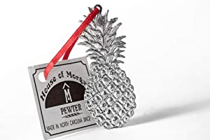 Handmade Southern Hospitality Pineapple Christmas Ornament Pewter
