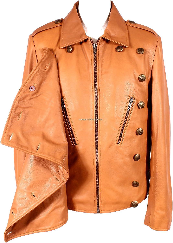 Men/'s ROCKETEER Tan 1940/'s AVIATOR WW2 Style Flight Pilot Nappa Leather Jacket