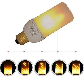 Junolux Led Lamparas Bombillas Decorativas con Efecto Fuego Falso Electrico 4W Llama Flama como Vela viento Simulado Extra Calido Para Navidad Fiesta ...
