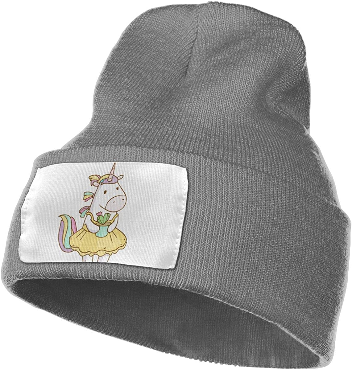 Unicorn Girls Have Cactus in Their Hands Unisex Fashion Knitted Hat Luxury Hip-Hop Cap