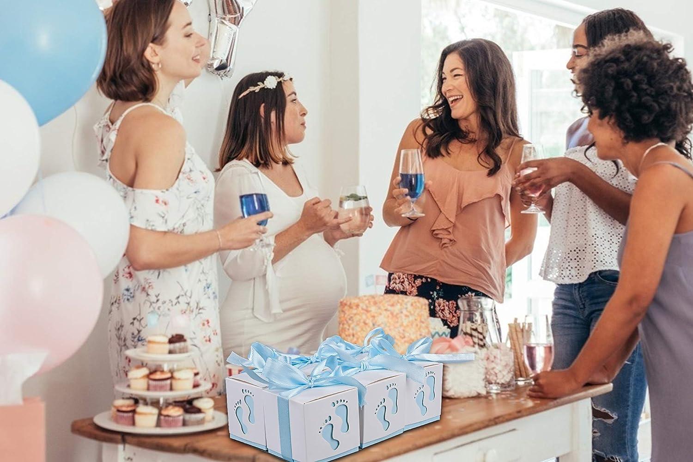 50PCS Bolsa de Dulces Cajitas Regalo Papel Caramelos Bombones Regalos Detalles de Fiesta para Baby Shower Cumplea/ños Bautizo Ni/ños Reci/én Nacida Fiesta Boda