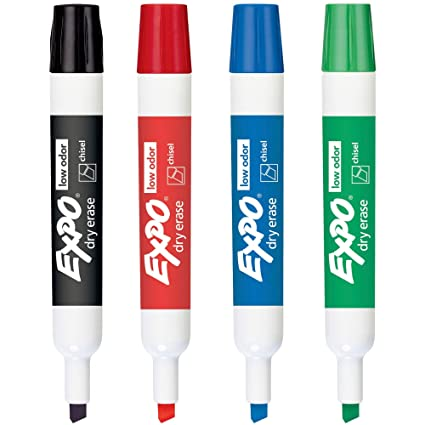 Amazon Com Low Odor Dry Erase Markers Chisel Tip