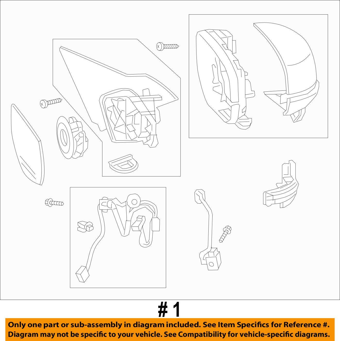 Tiger Eye Pearl Genuine Honda 76250-T3L-A51ZA Door Mirror Assembly Left