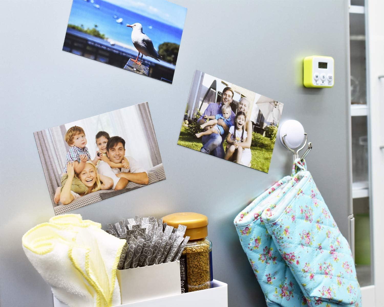 papeler/ía imanes de fotos papel magn/ético flexible despegar y pegar suministros de oficina Hojas magn/éticas adhesivas MagX 10 hojas papel magn/ético adhesivo