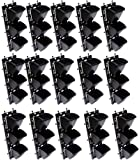 BIO BLOOMS Vertical Wall Garden M2 15 Panel with Hanging 45 Pots (Black, Color Bio_110BC)