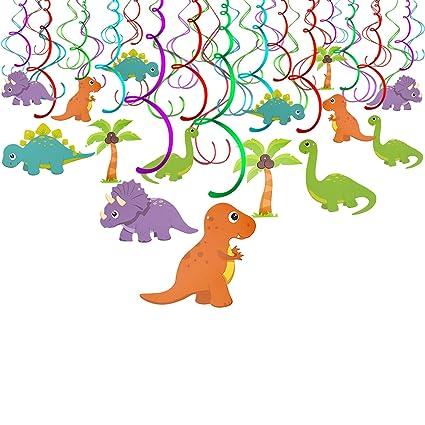 Amazon Com Konsait Dinosaur Hanging Swirl Decorations Dino Spirals