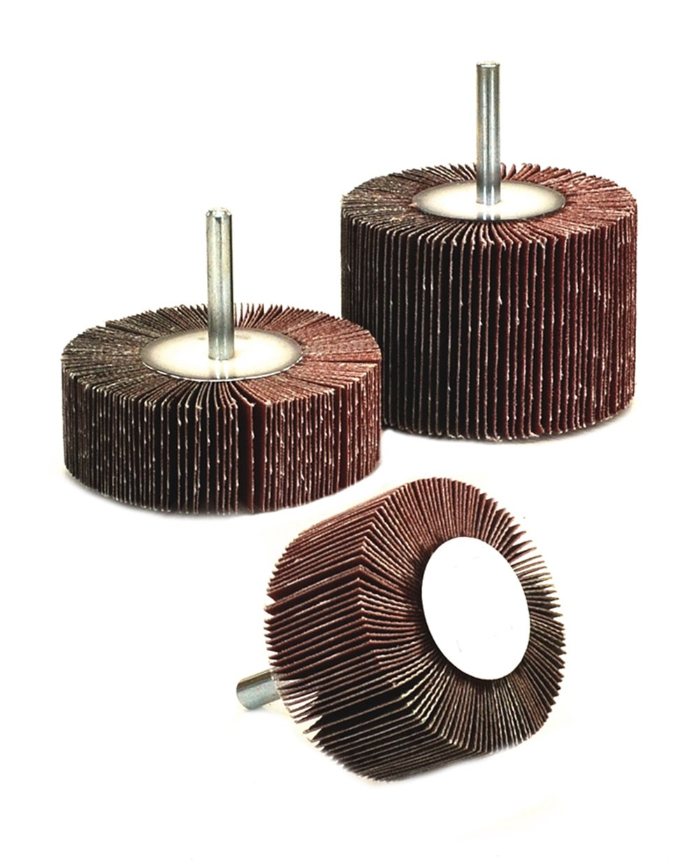 10-Pack Arc Abrasives 11390 Mounted Shank Flap Wheels 3-Inch x 1-Inch x 1//4-Inch Shank 60 Grit