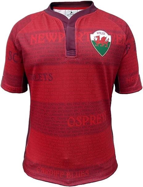 Olorun Gales Leyendas Camiseta de Rugby.: Amazon.es: Deportes y aire libre