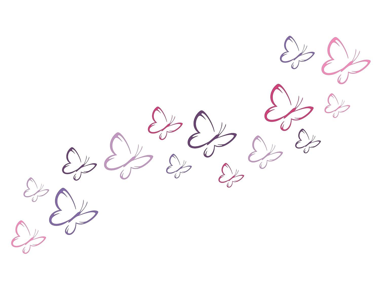 wandfabrik - 15 Schmetterlinge im Farbmix 5 10cm (S3M5) GoldundSilber - Wandtattoo geeignet als Dekoration Klebefolie Wandbild Wanddeko Tiere für Wohnzimmer Kinderzimmer Babyzimmer Badezimmer Fliesen Tapete Küche Flur Wohnung und Schlafzimmer für Junge Mäd