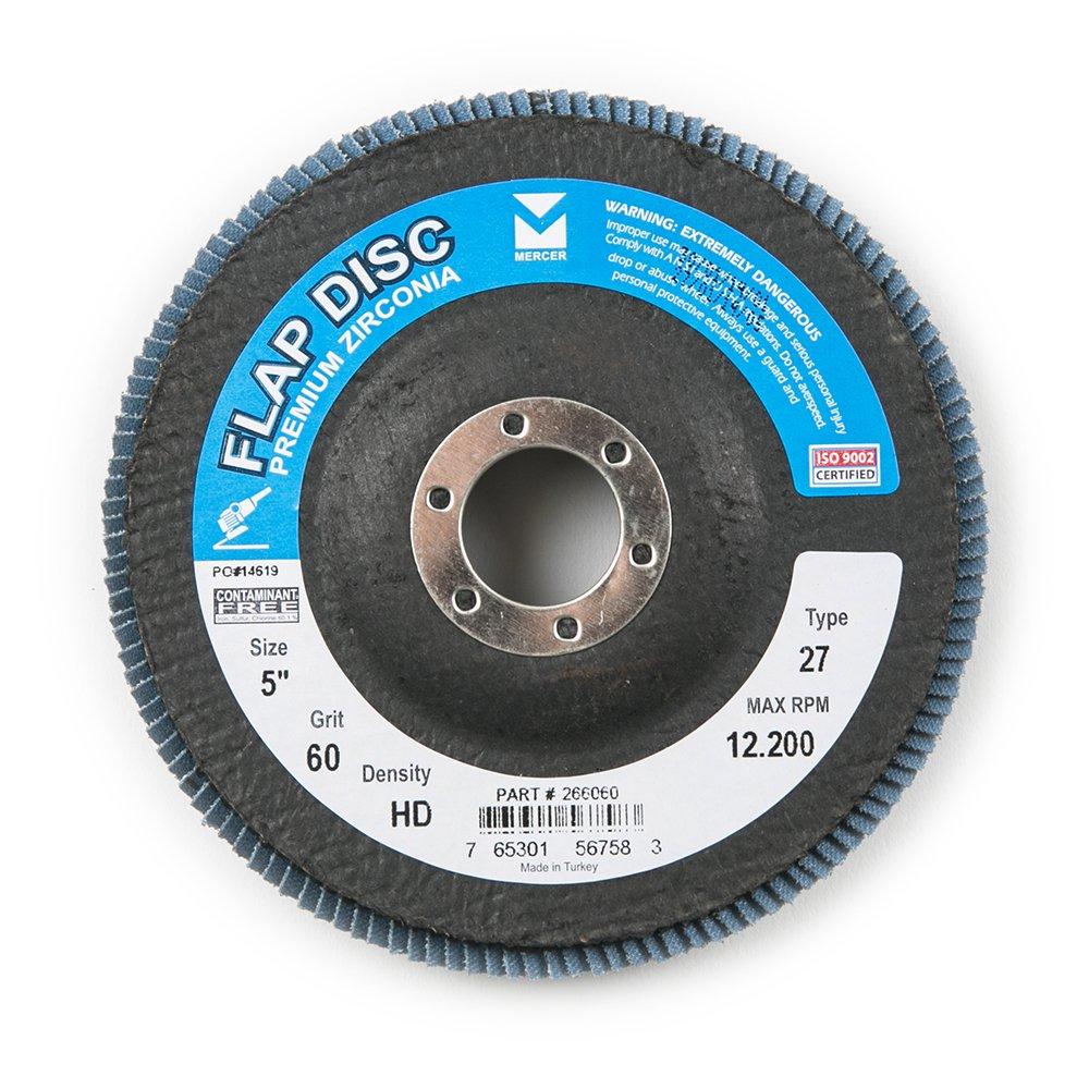 Mercer Industries 266036 Zirconia Flap Disc, High