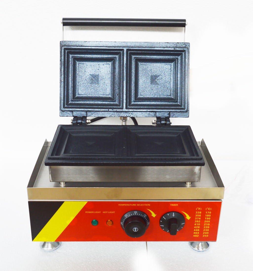 110V Commercial Nonstick Electric 2 Slice Sandwich Toaster Press Maker Machine