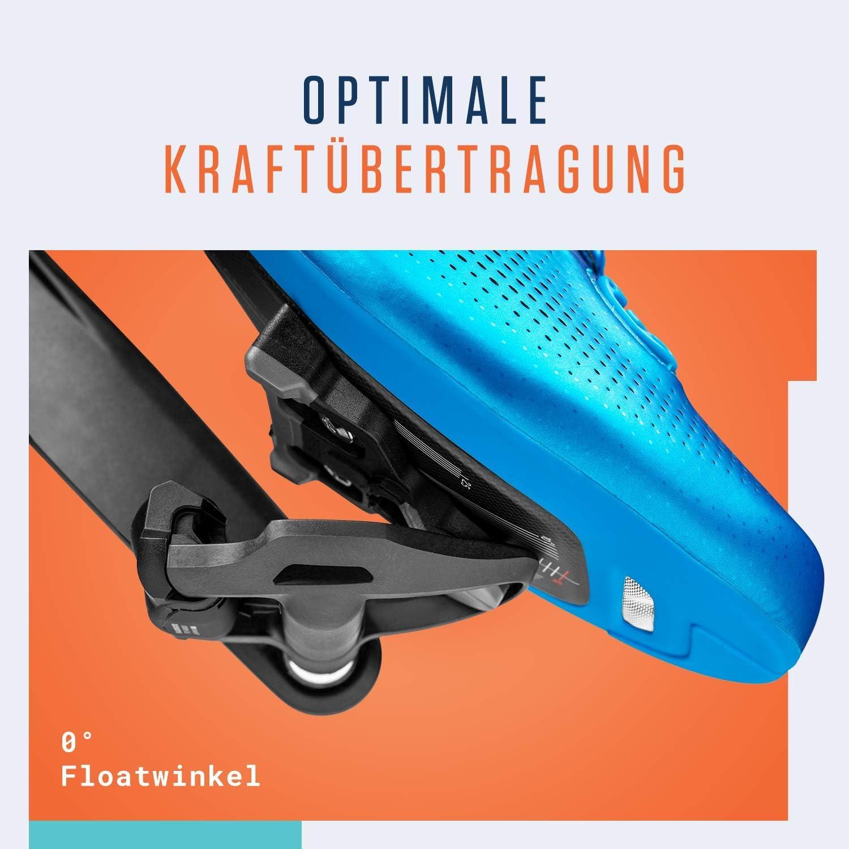 Alphatrail Look Keo Carretera Cleats Alfred I 0/° Float I Puntos de Contacto Antideslizantes I Incl el Kit de Montaje I Compatible con los Pedales de Clic i.a Look Keo