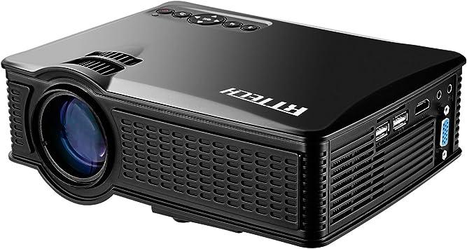 Amazon.com: Mini proyector HD portátil 1080p, 1500 lúmenes ...