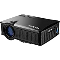 Portable Mini HD Projector 1080p, 1500 Lumens LED Video Projector For Home Theater Movies Iphone Android iPad Tablet Via HDMI AV VGA USB SD