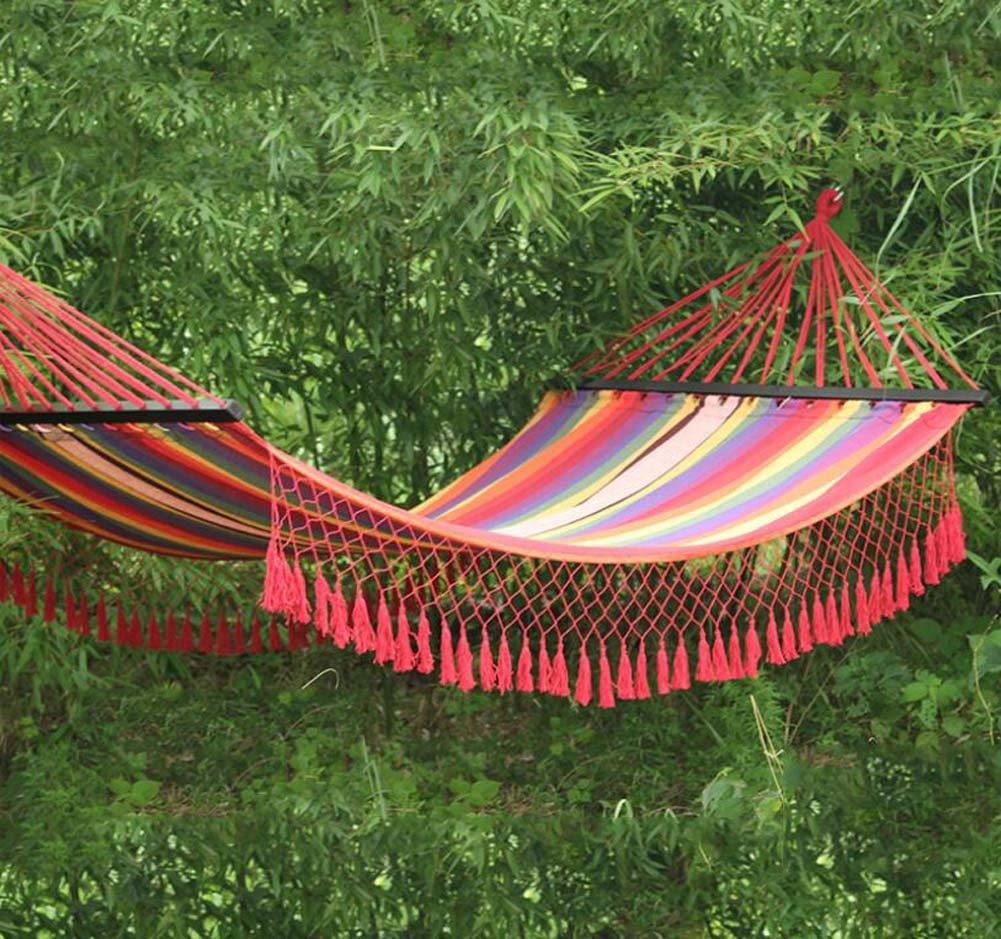 Nlne Outdoor Indoor Lace Camping Freizeit Quasten Leinwand Baumwolle Baumwolle Hängematte Schaukel