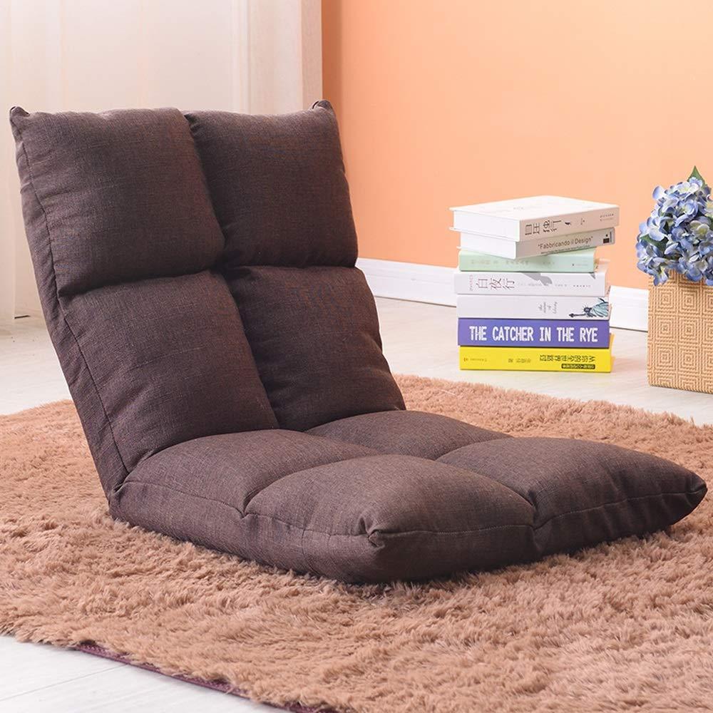 E  YANG HONG SHOP JL HY Chaise De Style Japonais Paresseux Canapé Tatami Pliable Simple Petit Canapé-lit Chaise D'ordinateur Dortoir Baie Vitrée - (Couleur   B)