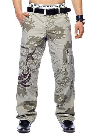 Herren Cargo Hose Military Freizeithose Camouflage, Farben Beige, Größe  Hosen 31  d5b04c5aa5