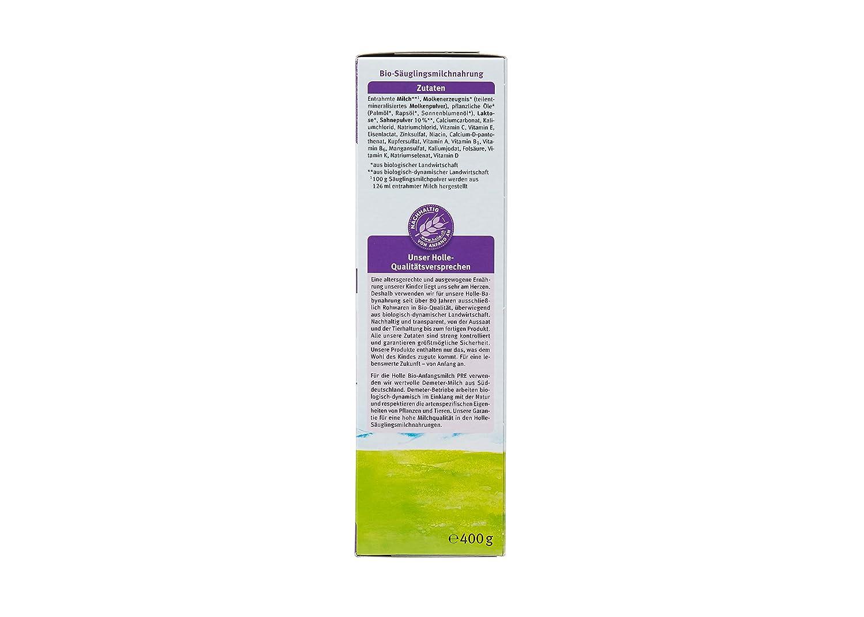 Holle bio Pre de Comienzo Leche 400 g (1 x 400 g): Amazon.es: Salud y cuidado personal