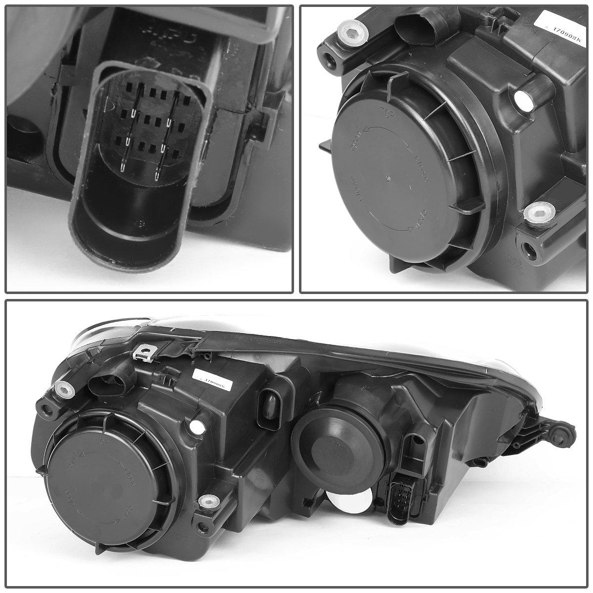 VW Golf / GTI / Jetta / Rabbit Pair of Headlight (Black Housing Clear Corner) by Auto Dynasty (Image #4)
